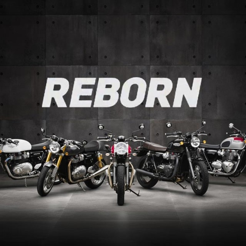 2016 new Triumph Bonneville 1200, Thruxton 1200 & Street Twin 900 'Reborn' promo video